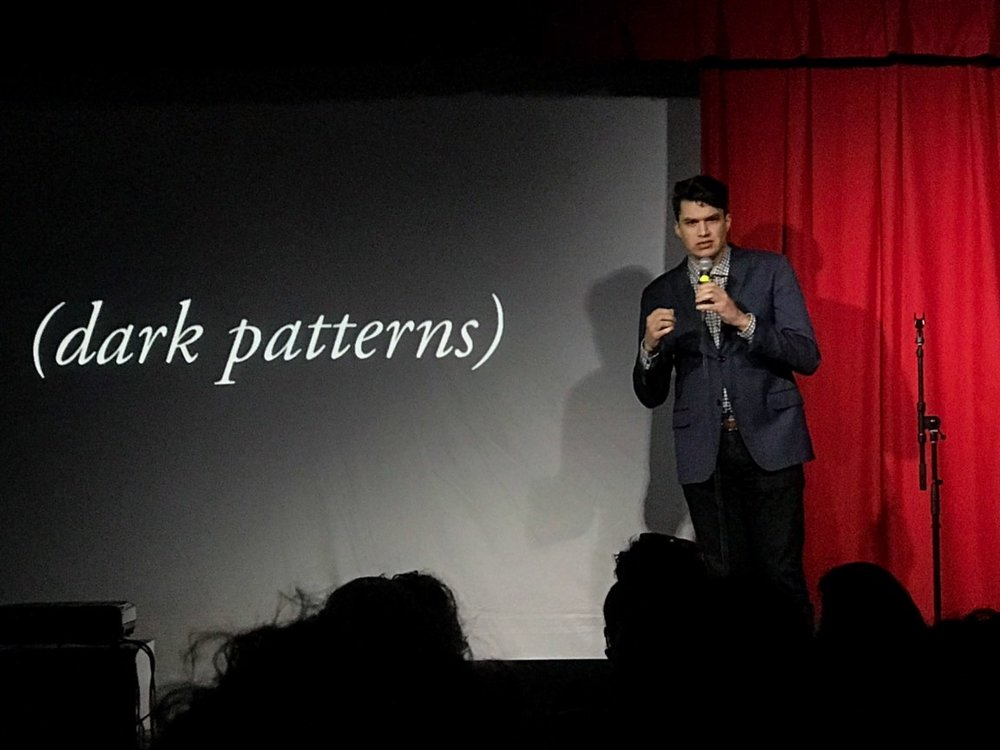 Getting fired up about dark patterns at IgniteDFW.