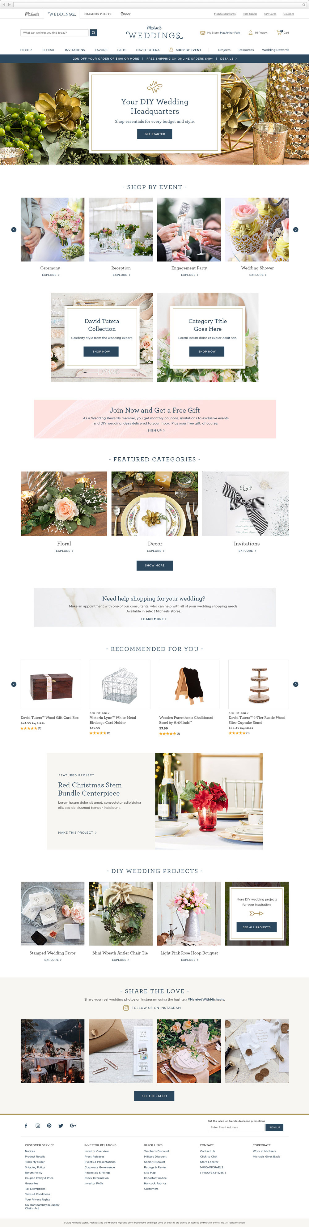 Michaels Weddings Matthew Potter Design Freelance Graphic