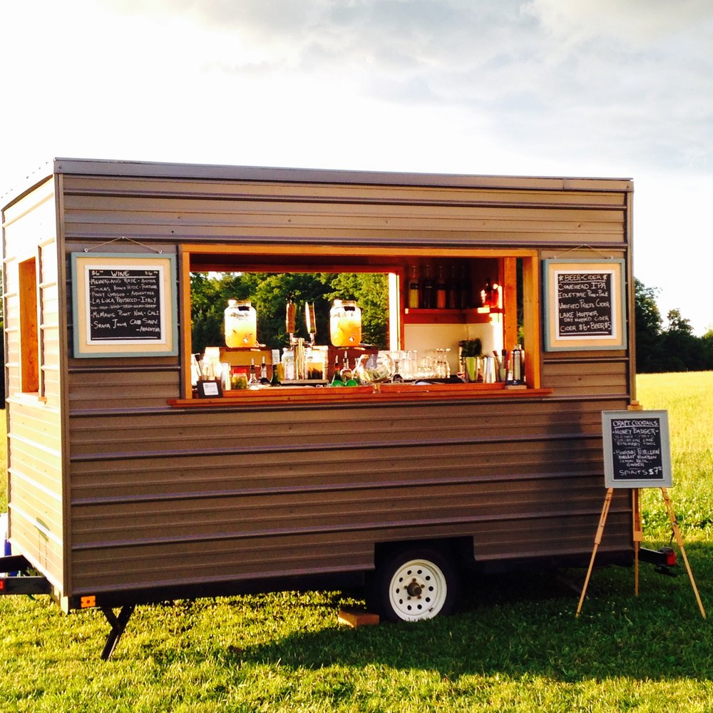 Inquire about our new mobile bar trailer for your next event!