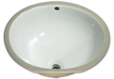 Undermount porcelain white round vanity sink