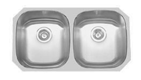 Soci Bermuda stainless steel 50/50 under mount kitchen sink (16 gauge)