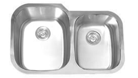 Soci San Juan stainless steel 60/40 under mount kitchen sink (16 gauge)