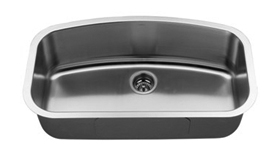 Soci Fiji stainless steel single bowl under mount kitchen sink (16 gauge)