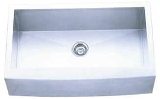 Tritan Burke stainless farm sink - single bowl flat front
