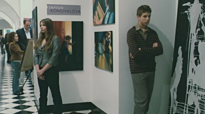 My paintings captured in a still from Summit Entertainment's film Remember Me (2010).