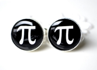Pi cufflinks for the groom