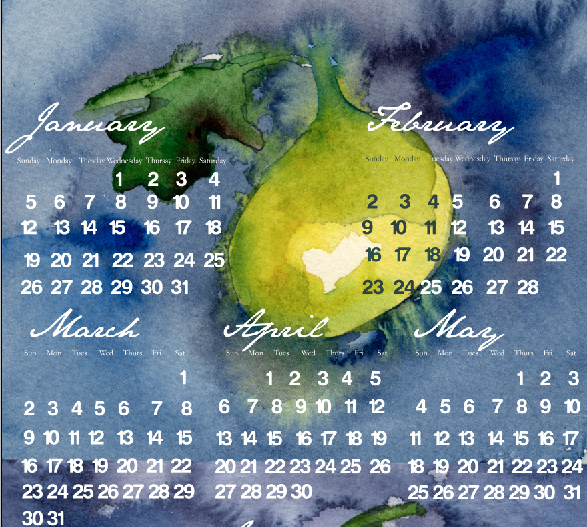 Annual calendar design