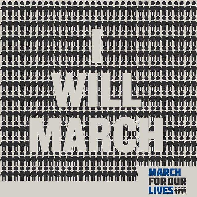 #Iwillmarch tomorrow. We will march tomorrow. #marchforourlives #msdstrong
