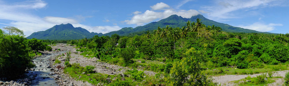 Hibok - Hibok and Mount Timpoong from Catarman.