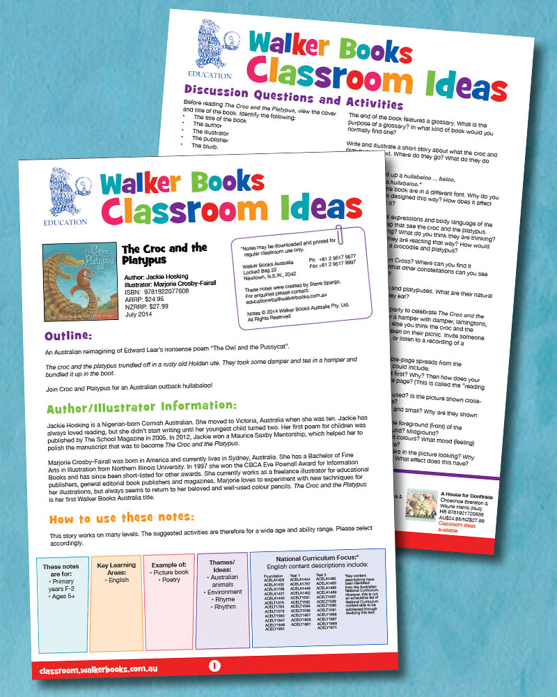 Teacher's Notes and Classroom Ideas (pdf file 556 kb)
