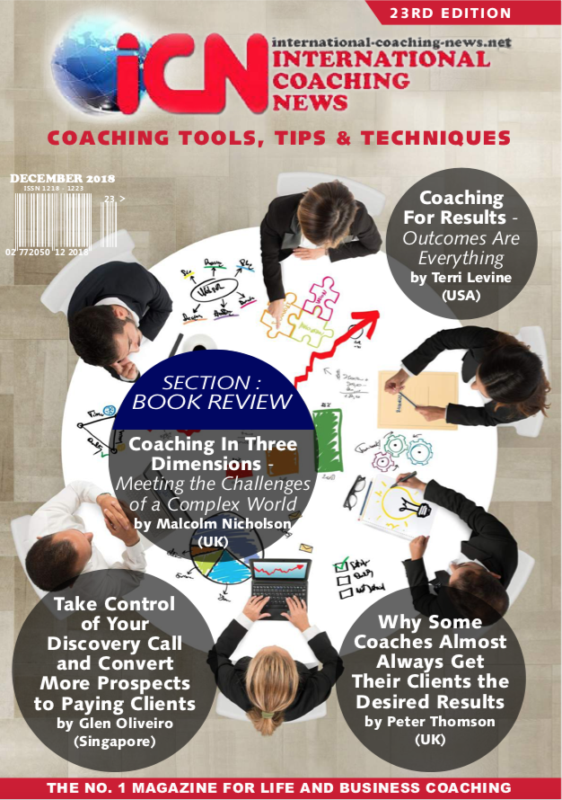International Coaching News Edition 23     Book Review 'Coaching in Three DIMENSIONS' Paul Lawrence & Allen Moore