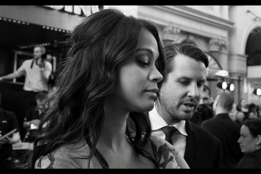 """My Good Side? Baby, they're BOTH my good side"" Hard to argue with Zoe Saldana. She's from Queens, New York and will punch your lights out if you cross her. Or order the security dude to her left to do so on her behalf.. Because she's classy like that."