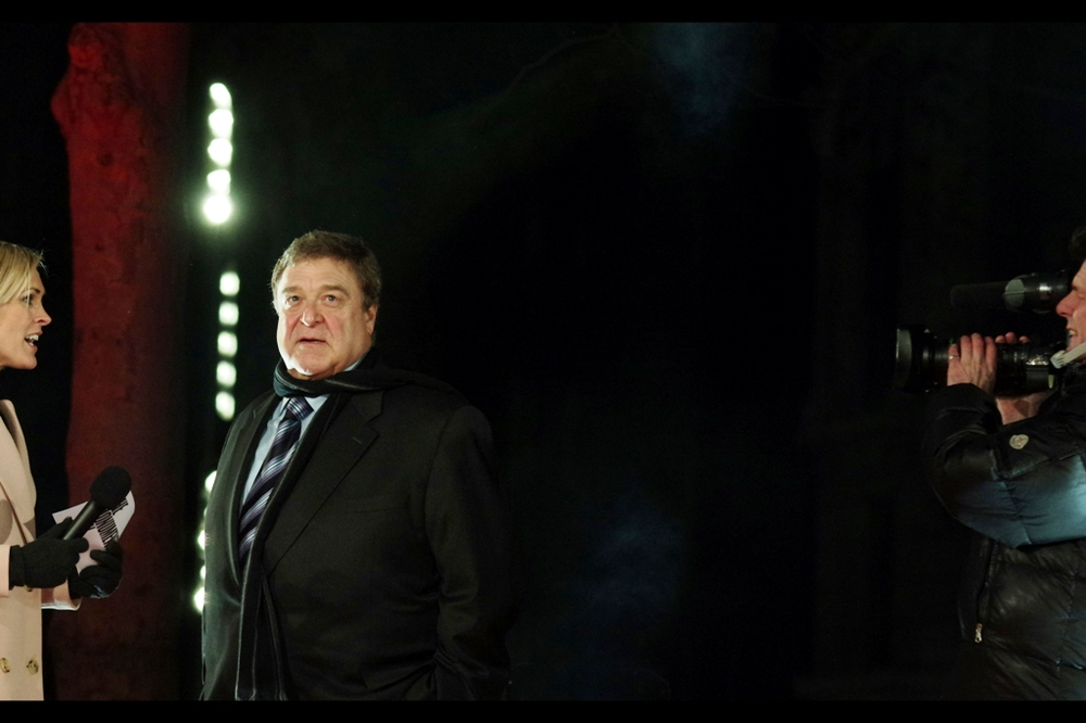 """Lady, that's a really personal question, and ordinarily I'd be more than happy to answer it, but I can't help but feel I'm being watched..."" John Goodman doesn't miss a thing. And was excellent in the all-to-easily-dismissed Wachowski Starship movie ""Speed Racer"" (2008)"