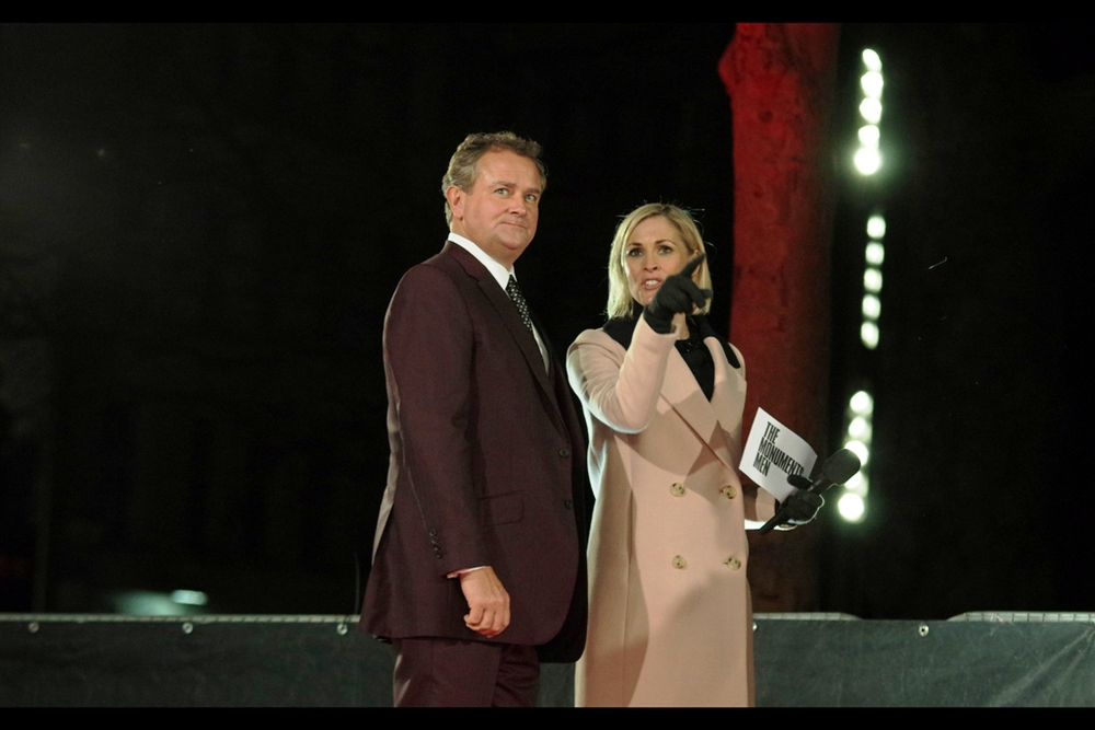 British actor Hugh Bonneville is in Downton Abbey, apparently, and this may or may not bestow upon him 'National Treasure' status. I merely observe that his suit style and expression is similar to that of Will Ferrell at the Anchorman2 premiere
