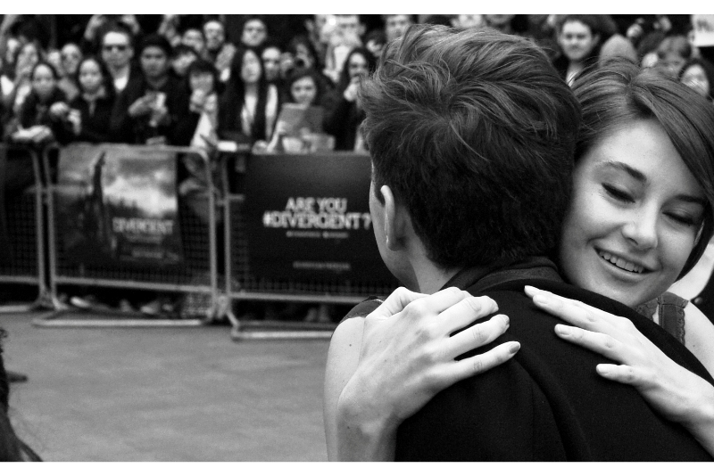 """Hi random stranger. Mind if I hug you?"" . I've been at the receiving end of a random hug (not from Shailene Woodley, it must be said). Despite being random, they're still quite nice to receive. Highly recommended. If you can't get out and see this movie, totally start soliciting hugs from random people. (This advice is not medically or in any other way sanctioned)"