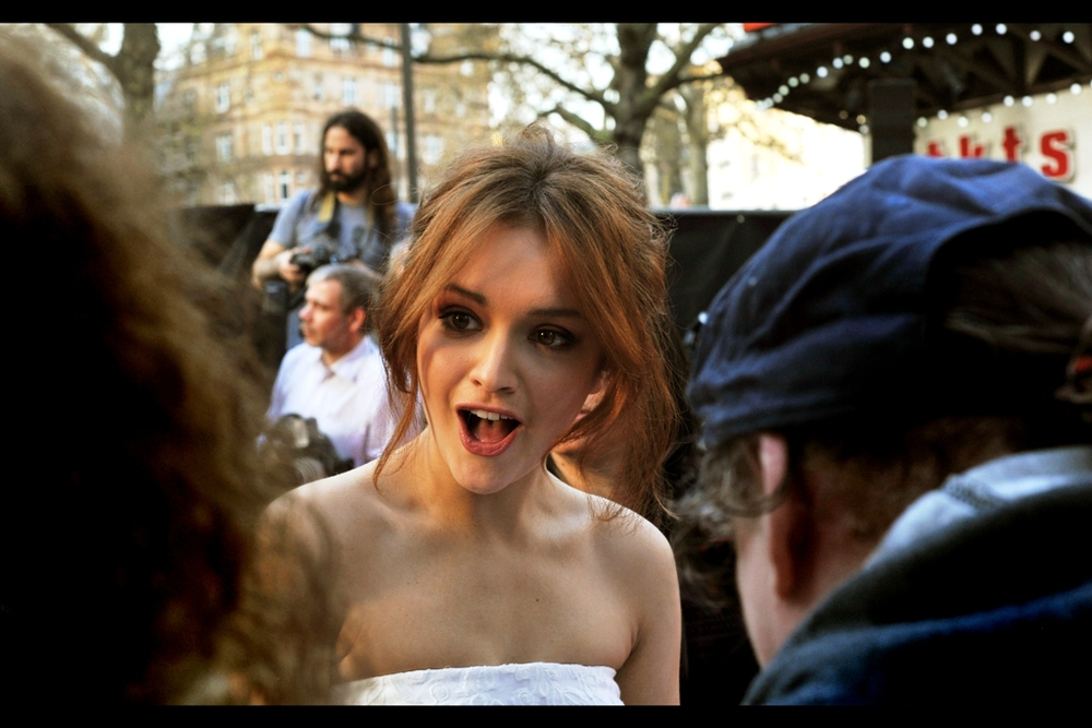 """You've seen my film Ouija? That means you're either a time traveller or dead, right?""  Olivia Cooke seems unfazed by either possibility."