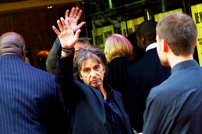 """ Peace out - I'm Al Pacino and I'll block you from taking good shots of Robert De Niro if I want"".  Oh, very well."
