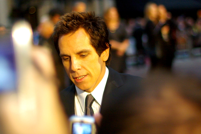 Next up, it's Ben Stiller.. (Nobody makes him bleed his own blood)