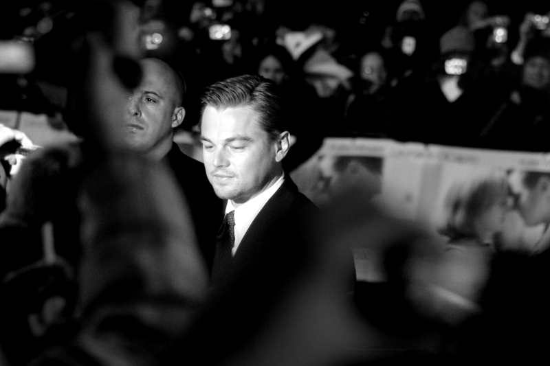 Leonardo Di Caprio. The girls were screaming from the moment.... well, that *they* arrived a couple of hours before he did, it seemed.