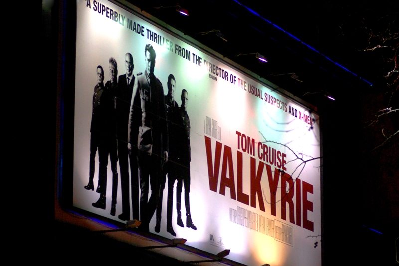 Valkyrie. And did you know... Tom Cruise brings his own security to these events? This is surprising, as honestly :premieres in London already feature police and security in place. But Tom Cruise STILL brought more security. Plus ninjas. (You couldn't see the ninjas, they were that good...)