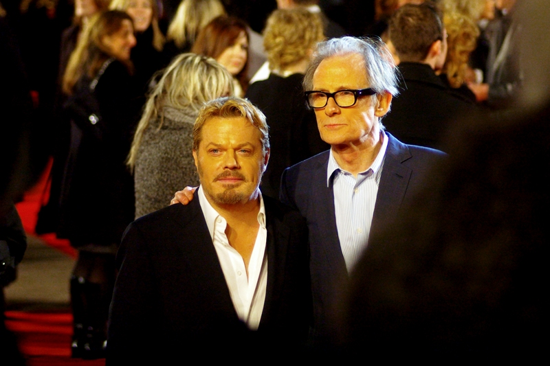 Actors Eddie Izzard (left) and Bill Nighy (right), who are both in the fim. I know of Eddie Izzard, but I'm not sure what he's been in, whereas I know Bill Nighy was in 'Love, Actually' and played Davy Jones in the second and third 'Pirates of the Caribbean' movies.