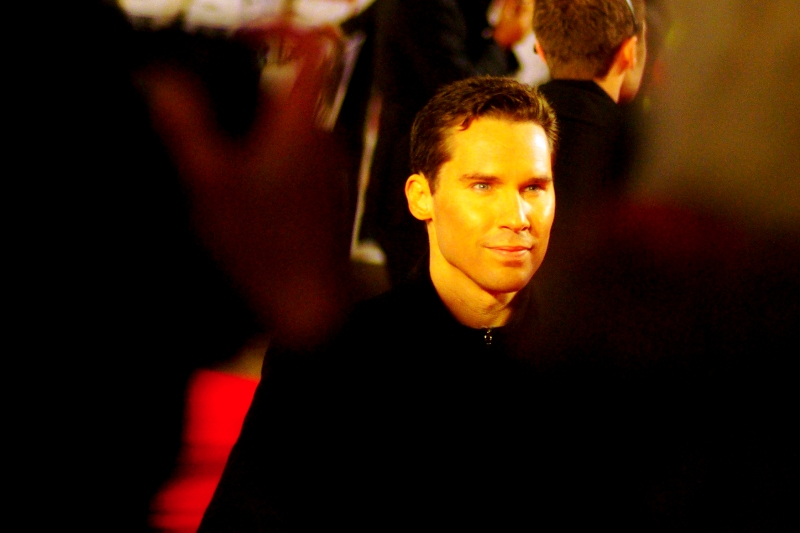 Director Bryan Singer, who looks improbably young and disturbingly intense to me (And I was behind a protective double cordon of Paparazzi and a 2metre hoarding, so that's saying something). Also : he directed The Usual Suspects and the first two X-Men movies.