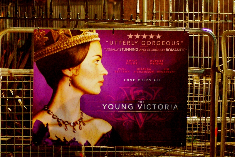 'The Young Victoria'. So... I guess it's unlikely to feature helicpoter gunships or even a half-decent car-chase.