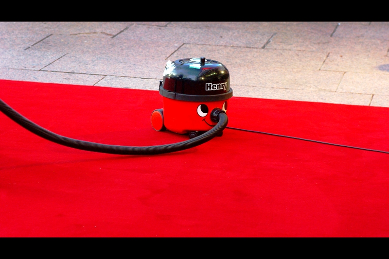 At this stage of the proceedings, the title of 'Photo for the Day' was Henry the Red Carpet Vacuum's to lose...