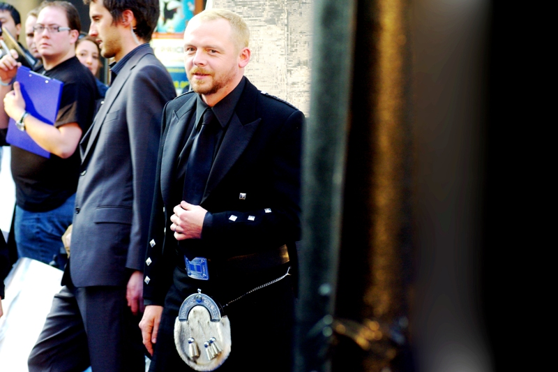 Ya cannae change the laws of sporrans, cap'n. It's Simon Pegg. I've photographed him at, like, four premieres already, so he'll only be appearing in this album once. Wearing a kilt, though. He plays Scotty in this film.
