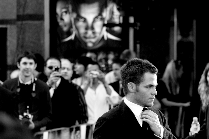 Chris Pine steps into the mantle of the might Captain Kirk at the Star Trek (2009) premiere.