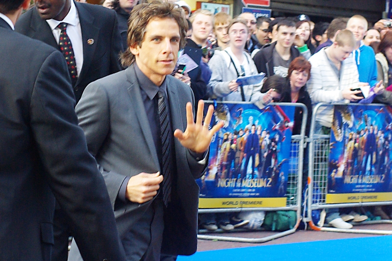 """Number of dollars I owe you? Yeah... I know... next time"" Kind of incredibly, this is the third premiere I've photographed Ben Stiller at, the prior two being Tropic Thunder and Madagascar2"