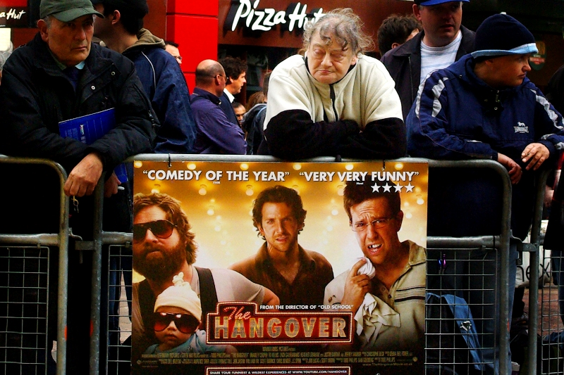 The Hangover. It happens to the best of us. Maybe even Yellow Cap Guy, whose lack of attendance was puzzling...