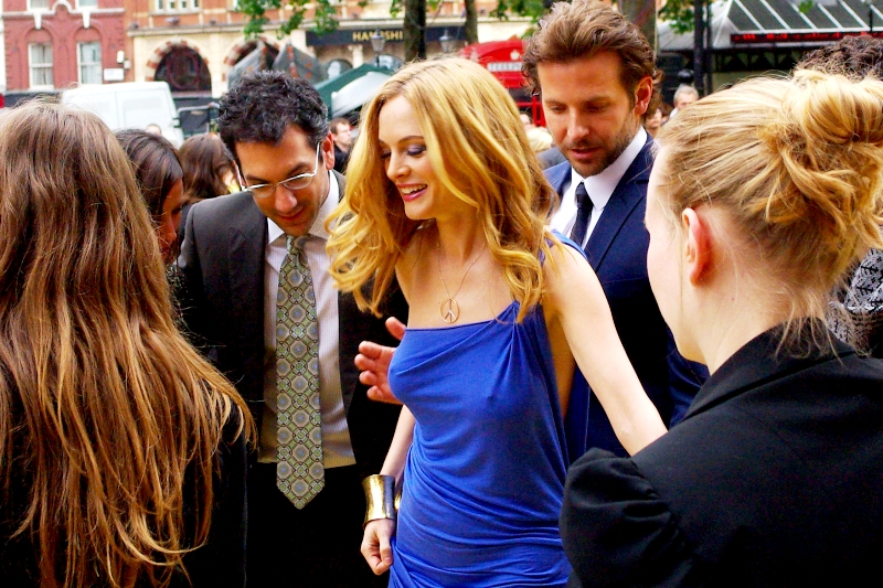 In their defence, it is a massively impressive... uh... dress. Heather Graham is 39 years old. If she keeps that figure by bathing in newborn babies' tears daily, I can't really say I have a problem with that!