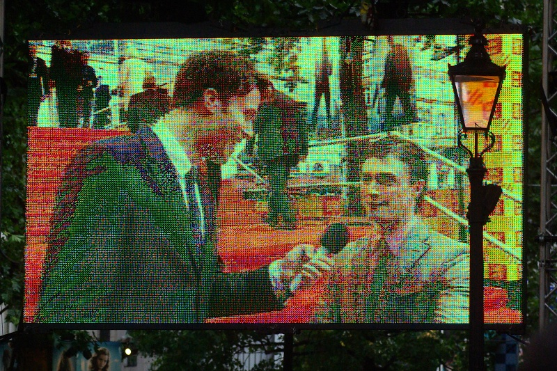 """Mike, even I camped out for this premiere just in case I missed me""  Daniel Radcliffe plays Harry Potter in the series. Although I was kind of livid at missing the start of this premiere and any chance of getting into a fan pen, I did miss one of the heaviest rainstorms London has ever seen while I was outside near Hook an hour and a half away. Not saying I'd rather have not been in Leicester Square, mind you."