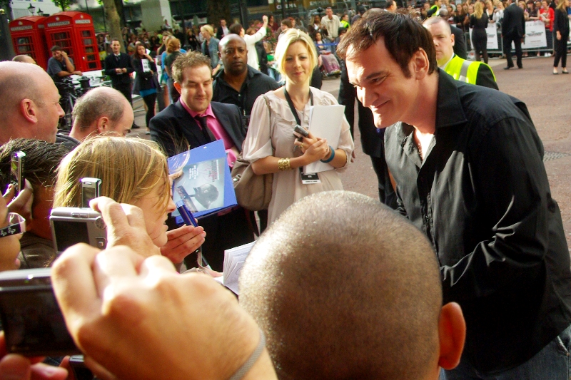 The Tarantino Approacheth. Sadly, I opted to put down the camera and get a signature as he got even closer. However I was unsuccessful and he passed me by.   HE PASSED ME BY!!   I can't help but feel a little snubbed, but then I'm fairly petty and judgemental.