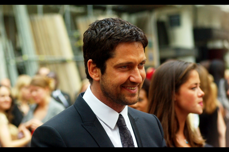 Gerard Butler. His designer stubble is probably immensely pleased that the weird Spartan beard he had in '300' didn't get typecast for all Gerard's subsequent roles.