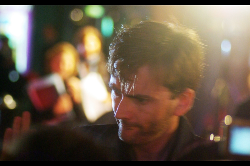 Actor David Tennant is in this film, and he's also the outgoing Dr Who. The crowd went fairly crazy-nuts upon his arrival, and he responded in kind!