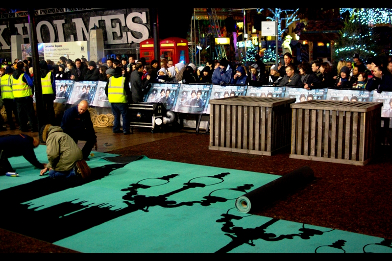 ... special green carpet (with a cool 'London Silhouette' Design)...