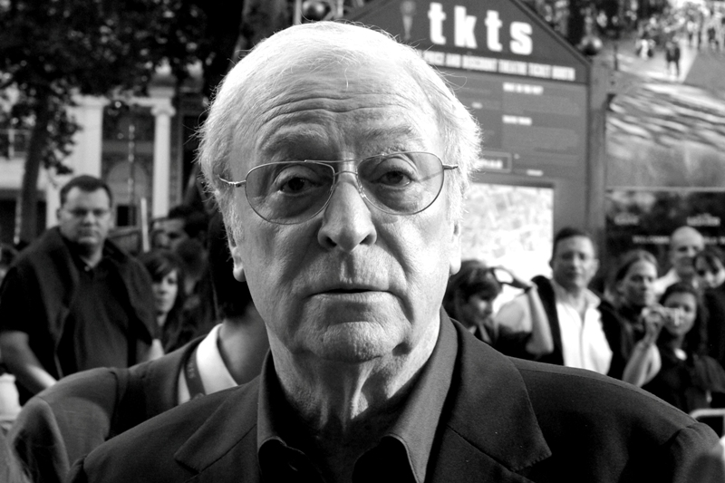 Michael Caine doesn't know what to make of my Pentax at  the premiere of 'The Dark Knight'