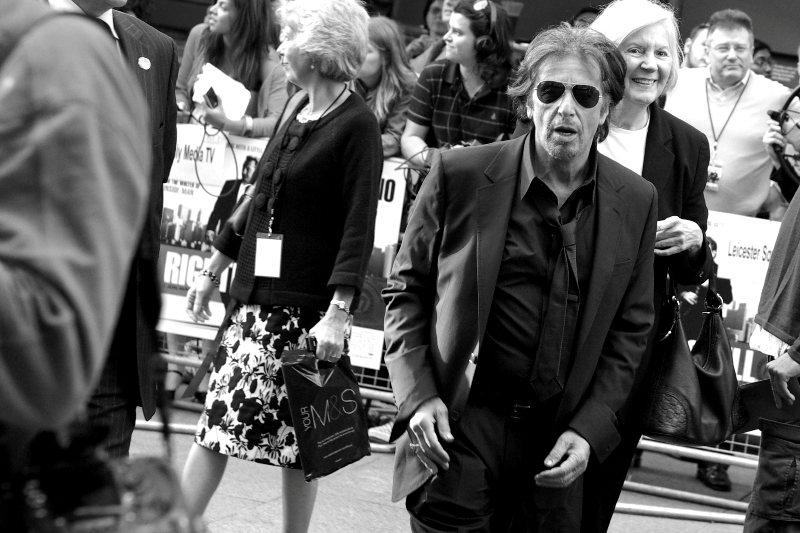 Al Pacino IS AL PACINO at the  premiere of 'Righteous Kill'