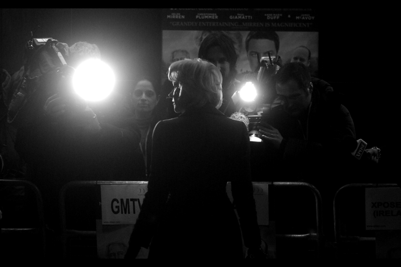 Silhouette of Helen Mirren. She's won four SAGs, four BAFTAs, three Golden Globes, four Emmies and an Oscar. Owing to the crop of this shot, I'm actually going to claim that she had them in two large duffel bags she carried with her. (No, really…)