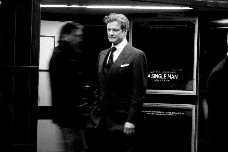 "It's all well and good having a savings plan for your retirement, but I don't really have one. However, if Colin Firth ever gets dumped by his wife/girlfriend I have a suitably ironic picture of him standing in front of ""A SINGLE MAN"" I can attempt to market for profit. (I'm kidding...)"