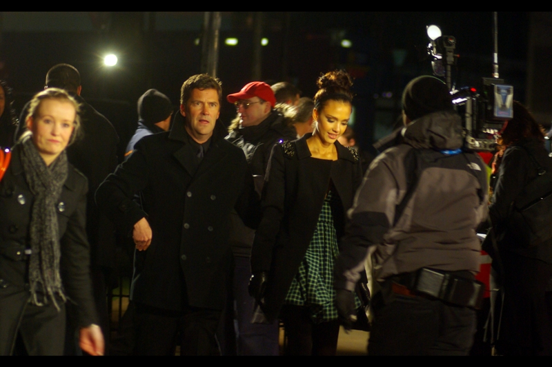 Jessica Alba has clearly reached some kind of zen state, while her accompanying guy/dude/security/valet makes yet another amusing face.
