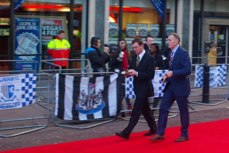 Can't tell if famous, but walking on carpet means you've got access (unless security charge and crash-tackle you).