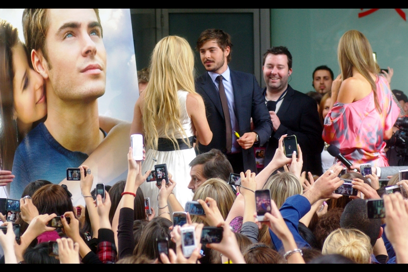 """Will you.... uh.... uh.... squeeeeeee????"".  I suspect Zac Efron gets a lot of this sort of thing."
