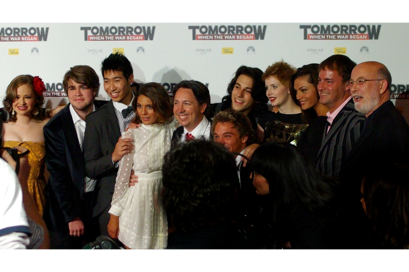 "The young Aussie cast of ""Tomorrow When The War Began"" at George Street cinemas, Sydney, Australia"