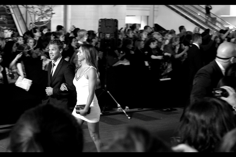 "Hey, it's that guy from  ""Tomorrow When The War Began""  and  ""The World Premiere of Thor"".   And a girl in a white dress."