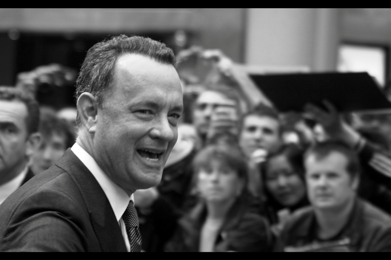Tom Hanks! He's won two more Oscars than David Hasselhoff, but has he brought down a wall and freed Nelson Mandela?