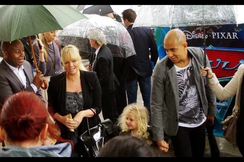 It's a Spice Girl! Emma Bunton shows up with her kid. Other than that, she has no connection to this movie that I'm aware of.
