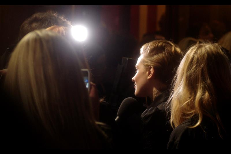 Here is the awesome profile of Evan Rachel Wood, whose cheekbones are amazing. (I'm very much in the  Thandie Newton at the RocknRolla premiere  zone, where photography was so frustratingly hard I wasn't ever able to confirm whether the actress had two eyes or not). sigh.